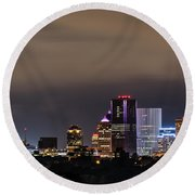 Rochester, Ny Lit Round Beach Towel