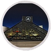 Round Beach Towel featuring the photograph Rock And Roll Hall Of Fame - Cleveland Ohio - 5 by Mark Madere