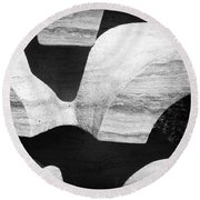 Rock And Shadow Round Beach Towel
