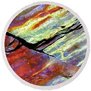Rock Art 16 Round Beach Towel