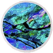Rock Art 18 Round Beach Towel