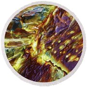 Rock Art 28 Round Beach Towel