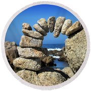 Rock Art One Round Beach Towel