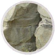 Rock Cleavage Round Beach Towel