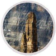 Rock Climber Round Beach Towel