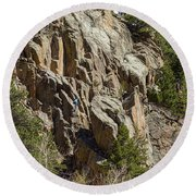 Round Beach Towel featuring the photograph Rock Climbers Paradise by James BO Insogna