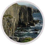 Rock Climbing Burren Round Beach Towel