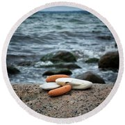 Rock Collection Round Beach Towel by Karen Stahlros