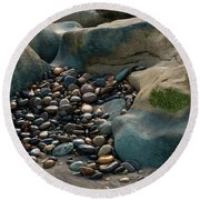 Rock Cradle Round Beach Towel
