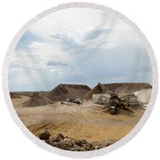 Rock Crushing 2 Round Beach Towel