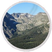 Rock Cut - Rocky Mountain National Park Round Beach Towel by Pamela Critchlow