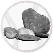 Rock Display Round Beach Towel