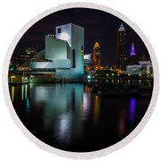 Rock Hall Reflections Round Beach Towel