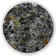 Rock Lichen Surface Round Beach Towel by Nareeta Martin