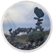 Rock Monster Round Beach Towel