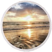 Rock 'n Sunset Round Beach Towel