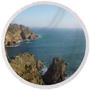Rocks Near To Cabo Da Roca Round Beach Towel