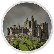 Rock Of Cashel Round Beach Towel