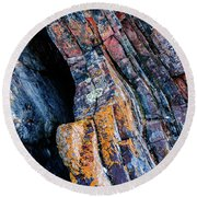 Round Beach Towel featuring the photograph Rock Pattern Sc01 by Werner Padarin
