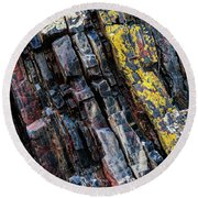 Round Beach Towel featuring the photograph Rock Pattern Sc02 by Werner Padarin