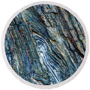 Round Beach Towel featuring the photograph Rock Pattern Sc03 by Werner Padarin
