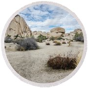 Round Beach Towel featuring the photograph Rock Tower No.2 by Margaret Pitcher