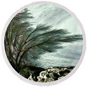 Round Beach Towel featuring the photograph Rock Tunnel by Pennie  McCracken