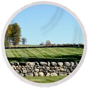 Rock Wall Lawn Round Beach Towel