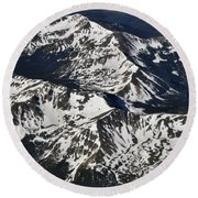 Rockies Round Beach Towel