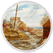 Rockport Coast Round Beach Towel