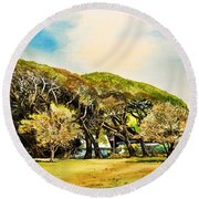 Rockport Oaks Round Beach Towel