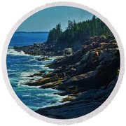 Rockport Shoreline Round Beach Towel