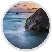 Rocks At Sunset 4 Round Beach Towel