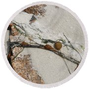 Rocks Longside Round Beach Towel