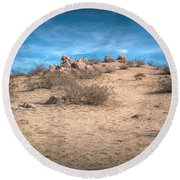 Rocks On The Hill Round Beach Towel