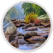 Rockscape Round Beach Towel by Tom Cameron
