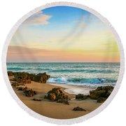 Rocky Beach Round Beach Towel by Tom Claud