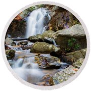 Round Beach Towel featuring the photograph Rocky Beauty by Parker Cunningham