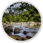 Rocky Broad River Round Beach Towel