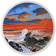 Rocky Cove Round Beach Towel