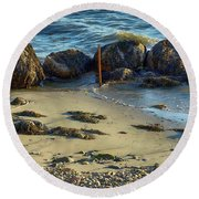 Rocky Formation Round Beach Towel