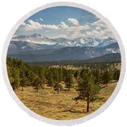 Round Beach Towel featuring the photograph Rocky Mountain Afternoon High by James BO Insogna