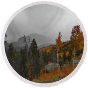 Rocky Mountain Color Round Beach Towel