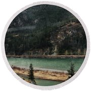 Rocky Mountain Foothills Montana Round Beach Towel by Kyle Hanson