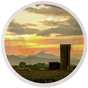 Round Beach Towel featuring the photograph Rocky Mountain Front Range Country Landscape by James BO Insogna