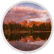 Rocky Mountain National Park Sunrise Round Beach Towel