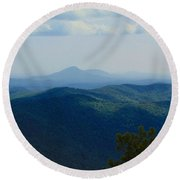 Rocky Mountain Overlook On The At Round Beach Towel