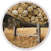 Round Beach Towel featuring the photograph Rocky Mountain Sky by John Stephens