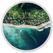 Rocky Point Overview. Round Beach Towel