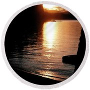 Round Beach Towel featuring the photograph Rocky Point Sunset by Jerry Sodorff